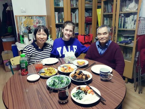 Savannah with her Homestay Family in Beijing