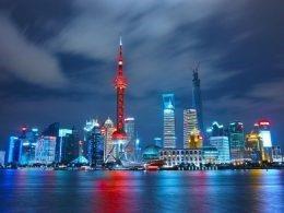 Linha de Horizonte de Xangai à Noite