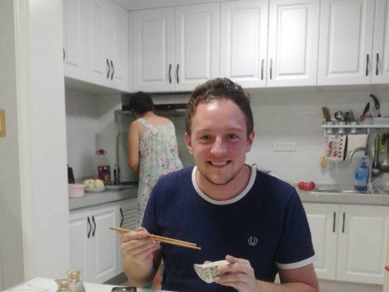 Jantar caseiro em Chengde