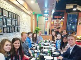 Desfrutando de Hotpot chinês em Pequim