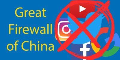 A Grande Firewall da China: Sites Banidos na China Edição 2020