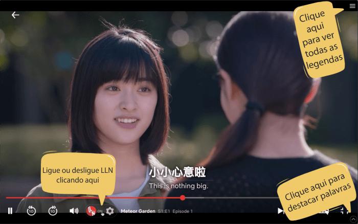 LLN Aprender mandarim com Netflix