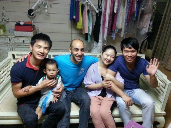 Família de acolhimento de Mohamed em Pequim