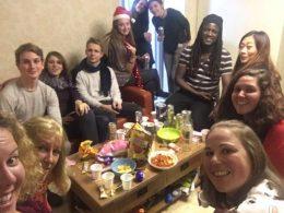 Noite de Natal dos estudantes