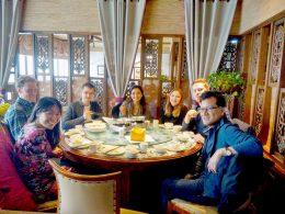 Hora de jantar para os alunos LTL Xangai