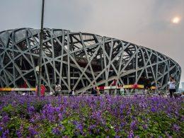 O estádio Ninho do Pássaro dos Jogos Olímpicos de Pequim 2008