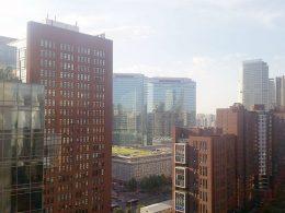 Vista do terraço de Pequim