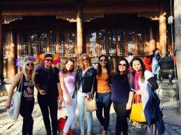 Estudantes de Pequim explorando a China