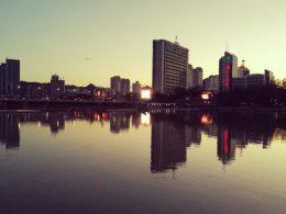 Pôr do sol em Chengde