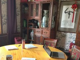 Hora da aula de chinês em Chengde