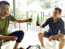 Cerveja com a Família de Acolhimento