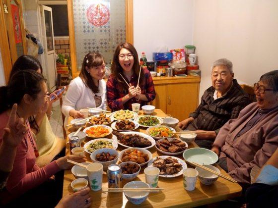Jantar com a família de acolhimento!