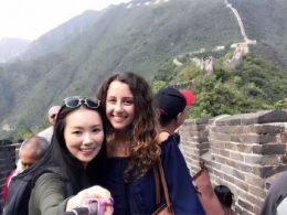 Marie e Jasmine na Grande Muralha