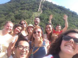 Hora de uma selfie na Grande Muralha