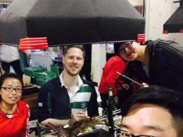 Dividindo o jantar em Chengde