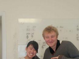 Charles estudando chinês em Pequim
