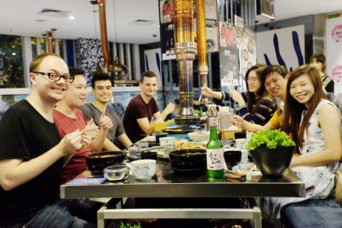 vida social pequim Barbecue Estilo Coreano