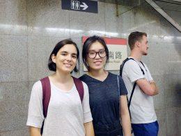 Andando de metrô em Xangai