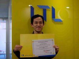 Ryosuke se graduando na LTL