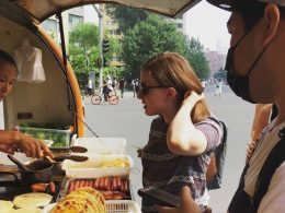 Comprando o café da manhã em Pequim