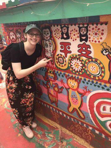 Amanda passeando por Taipei