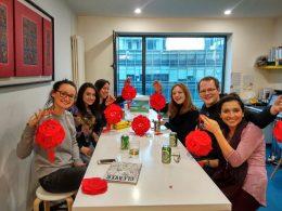 Estudantes LTL Pequim desfrutando de uma pausa de estudar chinês