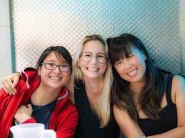 Diversão em Taiwan com as professoras