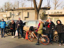 Professores e pessoal de Pequim explorando