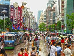 Fazendo compras em Xangai