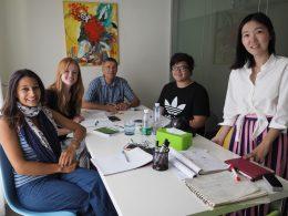 Pequeno grupo de mandarim com a professora Lucy