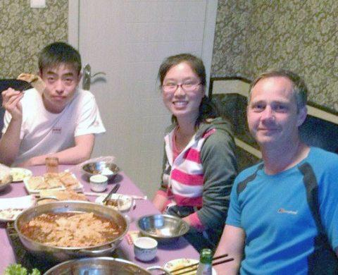Hora de jantar na casa de acolhimento