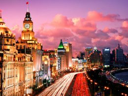O Bund em Xangai